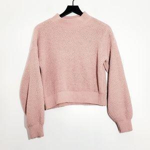 Hollister Solid Light Pink Juniors Sweater